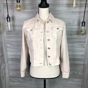 Sundry Cream Denim Jacket Size Small